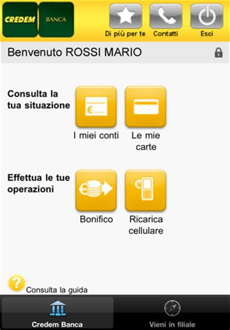credem on line credem app for iphone finance app by gruppo