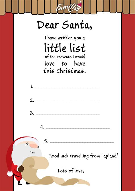 letters to santa your letter to santa families
