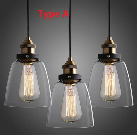 Country Kitchen Lighting Fixtures Nordic Vintage Edison Pendant L American Country Kitchen Lights Fixtures Modern Glass