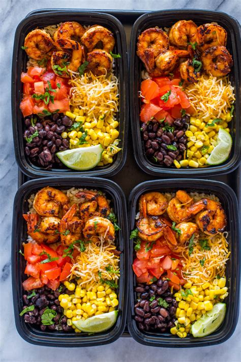 Food Prep Meals by Meal Prep Shrimp Taco Bowls Gimme Delicious