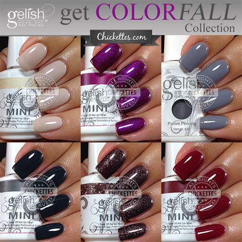 gelish color swatches gelish get color fall collection 2014 fall gelish colors