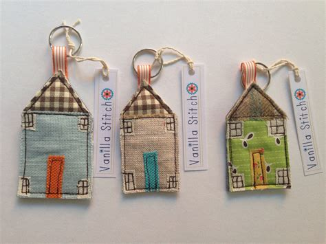 fabric house fabric house keyrings vanilla stitch little houses pinterest vanilla stitch