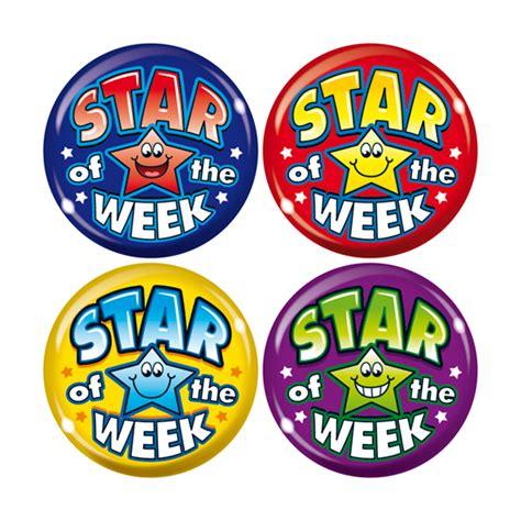 printable star of the week badge maxipack badges star of the week
