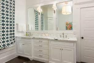 Bathroom Double Sink Vanity Ideas by Roman Shade With Bead Trim Transitional Bathroom