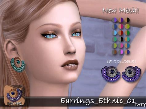 hair 258m sac at may sims 187 sims 4 updates earrings ethnic 01 by taty86 at simsworkshop 187 sims 4 updates