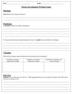 science planning investigation sheets by carlfarrant88