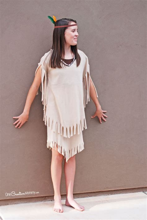 simple and clever diy costumes prairie pointe easiest indian costume onecreativemommy