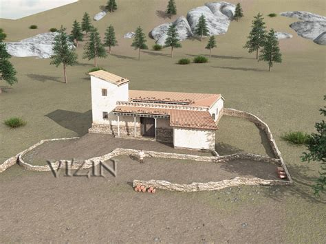 House With Central Courtyard vari house greece archaeological recreations and