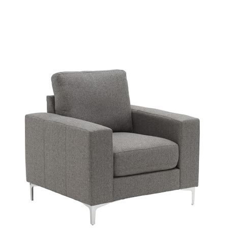 stylish sofas and chairs bailey stylish sofa chair in grey fabric 32542 furniture in