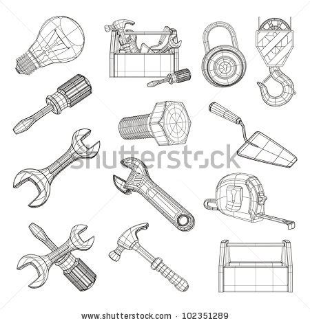doodle drawing tools drawing tools stock photos images pictures