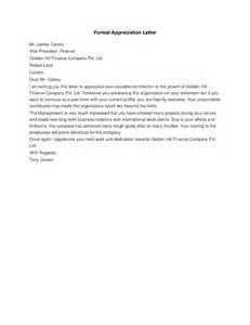 formal appreciation letter hashdoc