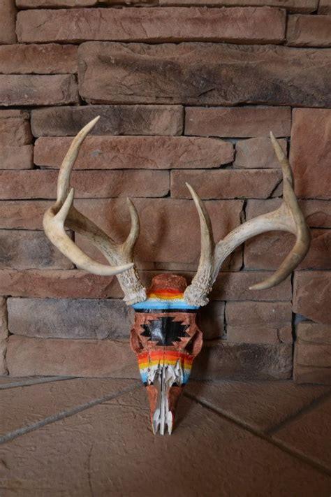 spray paint european mount de 25 bedste id 233 er inden for painted deer skulls p 229