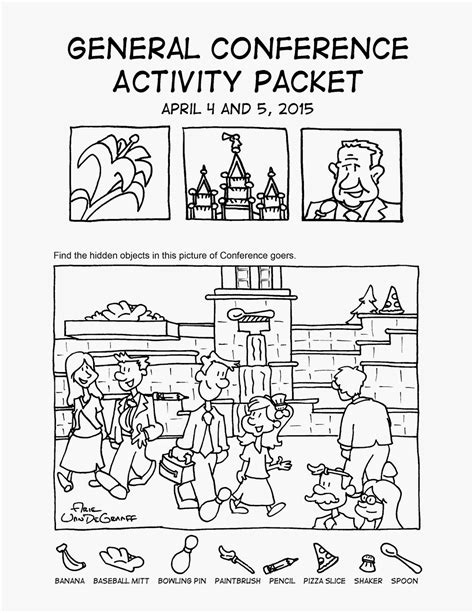 prepared lds family lds general conference coloring and