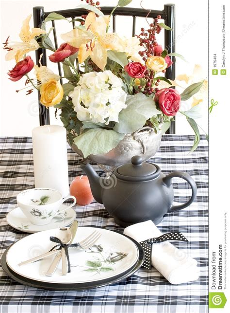 black and white table setting table setting black and white stock images image 1975484