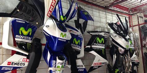 Aksesoris Motor Racing di sini surganya aksesoris sepeda motor sport pameran otomotif nasional