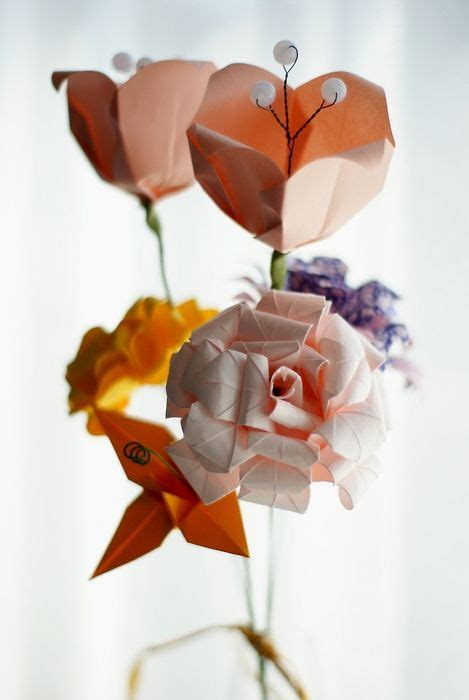 Origami Bouquet Tutorial - from a website in the tutorial section learn