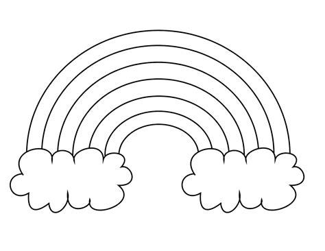 Rainbow Coloring Page For Preschool free printable rainbow coloring pages for