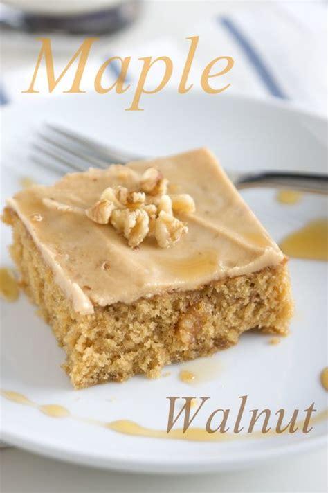 maple walnut cake dessert recipe pinterest