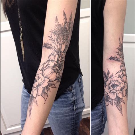 tattoo body wrap vintage floral arm wrap instagram michaelbalesart by