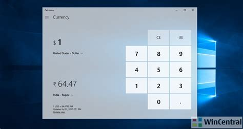 currency converter windows 10 windows 10 calculator app update adds currency converter