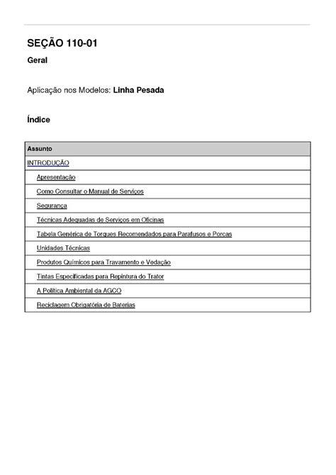 Manual Serviço Oficina Tratores Valtra Bm 85 100 110 120