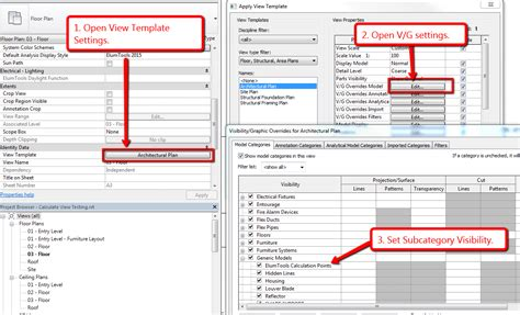 Subcategory Template by Lighting In Revit Using Elumtools Tips Tricks And Handy