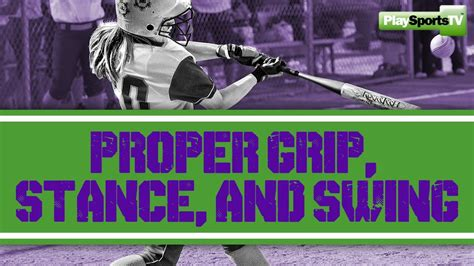 proper batting stance and swing softball hitting proper grip stance and swing youtube