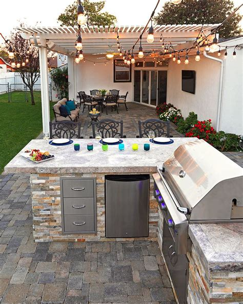 grill backyard best built in grill ideas with best built in bbq 10646