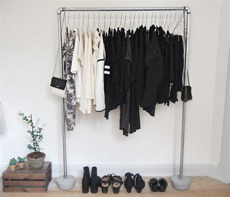 how to a pipe l diy how to a pipe clothing rack with concrete