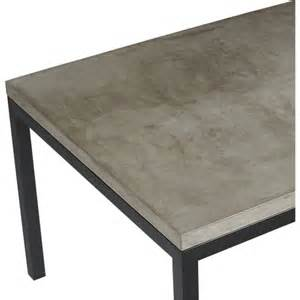 concrete top steel base parsons dining