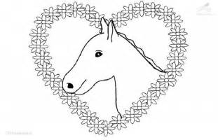 kleurplaat paard met hartjes paarden ponies van