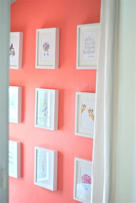 25 best ideas about coral accent walls on coral room accents coral walls and coral