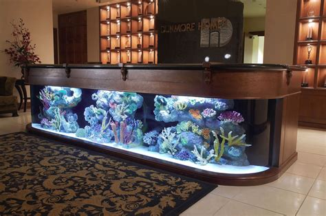 fish tank bar top aquarium company that designs service supplies aquariums