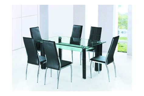 Attrayant Plafonnier Pour Salle A Manger #2: table-de-repas-design-simili-cuir-chocolat-alexandra.jpg