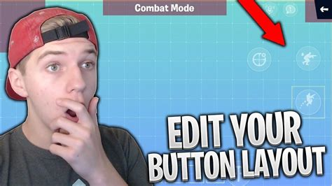 edit  button layout  fortnite mobile