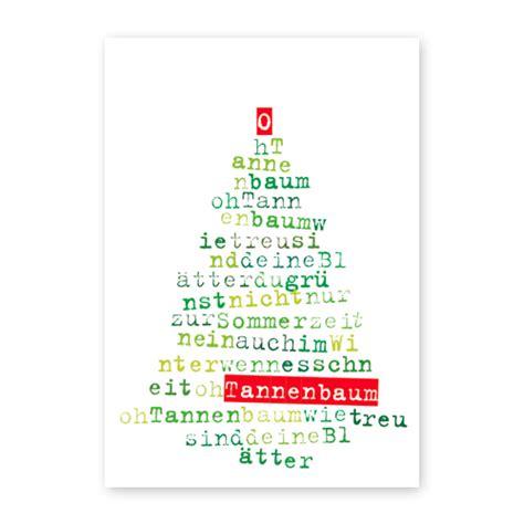 tannenbaum testo weihnachtskarten mit liedtext und lettering oh tannenbaum