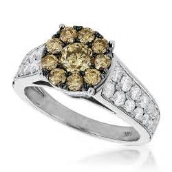engagement rings for women unique engagement rings 14k gold cluster diamond ring for
