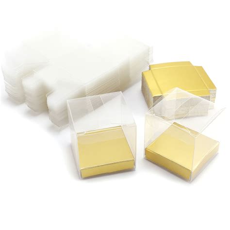 50pcs clear gift boxes pvc sweets chocolate wedding
