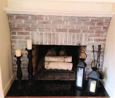 Stick On Fireplace Tiles by White Washed Fireplace