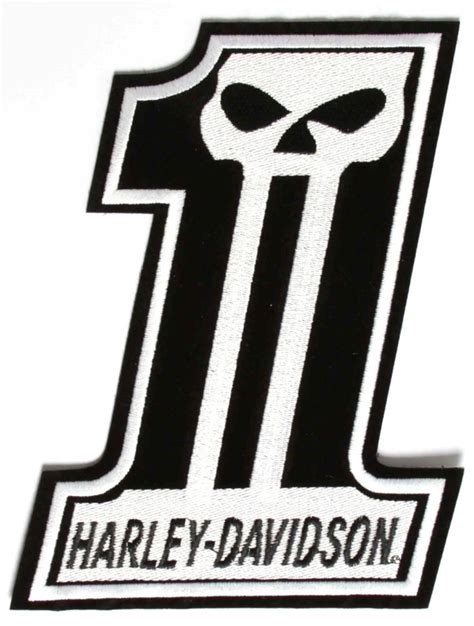 harley davidson number one skull harley davidson 1 skull patch large the cheap place