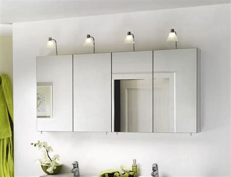 Bathroom Wall Storage Ideas Engaging Wall Mirror Cabinets Design For Bathroom With Four Panels Idea Mixed With Charming Four