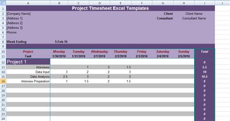 Get Project Timesheet Excel Templates Excel Project Management Templates For Business Tracking Excel Timesheet Template Projects