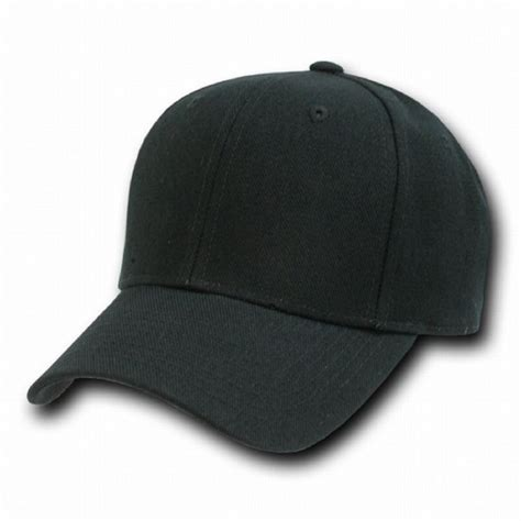 black fitted baseball cap caps hat hats 8 size choices ebay