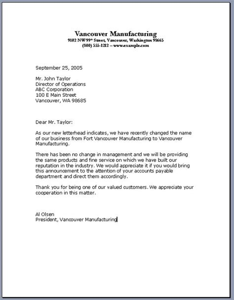 Business Letter Template business letter format sles of business