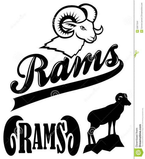 the rams free rams team mascot stock images image 32871344
