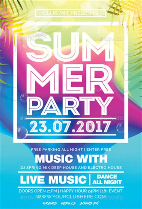 Download The Best Summer Flyer Templates For Photoshop Summer Poster Template