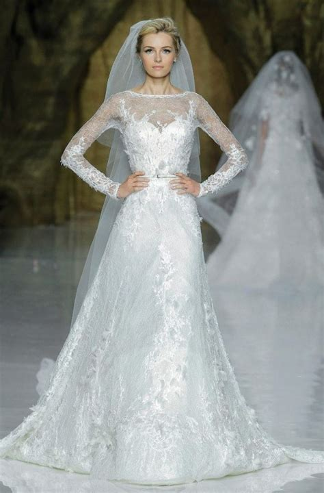First look beautiful new wedding dresses by elie saab onewed