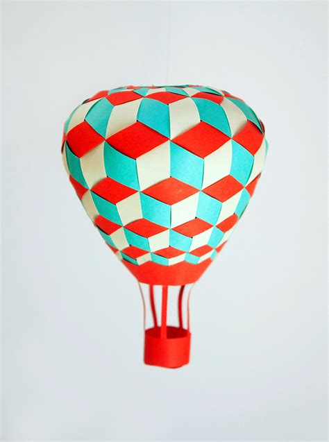 Air Balloon Origami - paper weaving inspirations paper matrix mr p