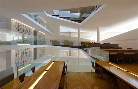 3d interior design library contemporary library for students and schools 3d model max