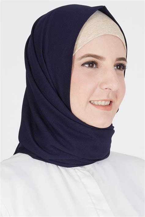 Jilbab Pashmina sell pashmina dormina navy pashmina hijabenka
